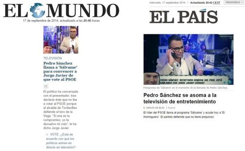 Pedro Sánchez en Sálvame